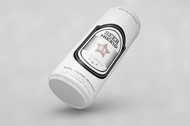 Black and white beer can mock up