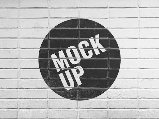 Black and white brick wall mockup