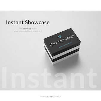 Black and white business card mock up