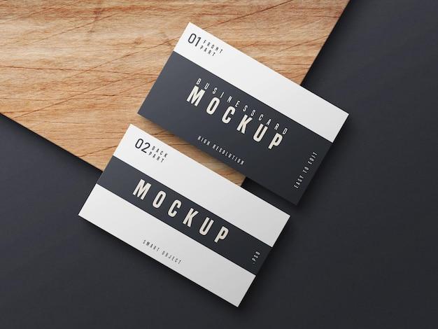 Black and white business card mockup design