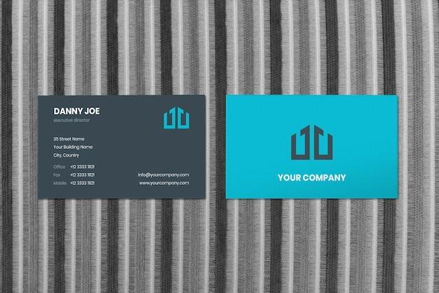 블랙 화이트 캔버스 라인 2 businesscard mockup