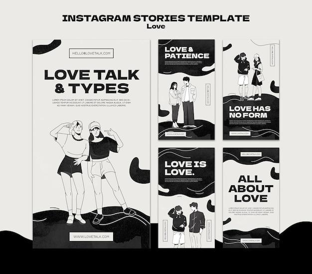 Le storie d'amore in bianco e nero sui social media