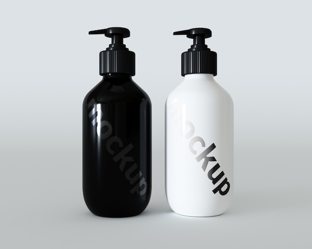 Black and white packaging mock up