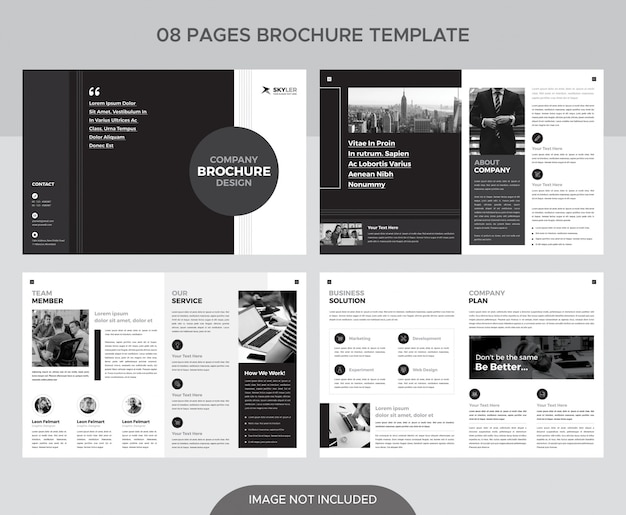 Black and white pages booklet template