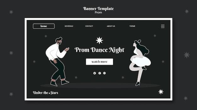 Pagina di destinazione del ballo in bianco e nero