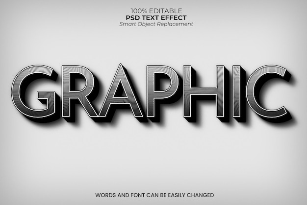 Black and white retro text effect