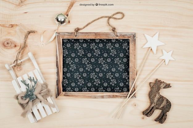 Макет blackboard с дизайном christmtas