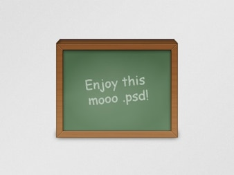 Blackboard icon with message