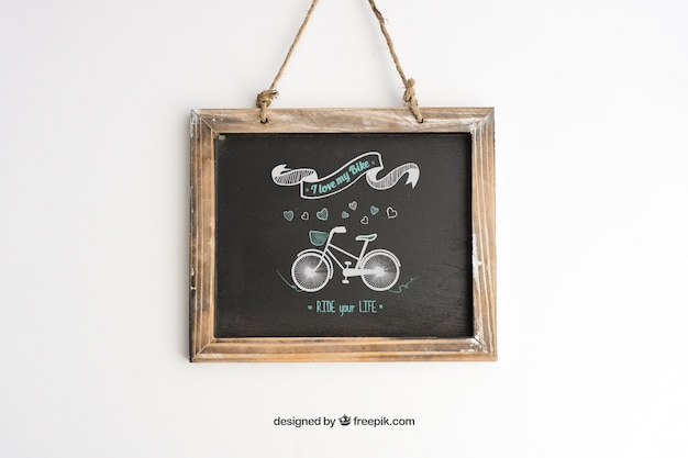 Blackboard mockup design