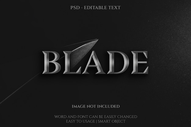 Blade text effect template