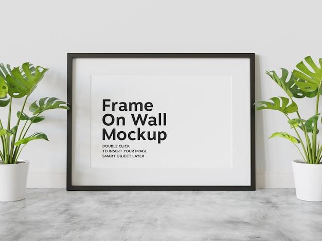 벽에 기대어 blakc 프레임 모형
