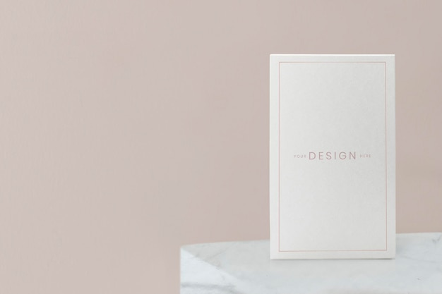 Blank beige poster  illustration