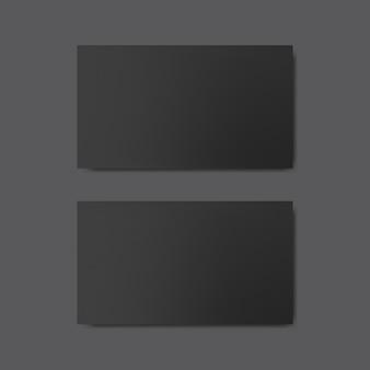 空白の名刺デザインモックアップベクトル