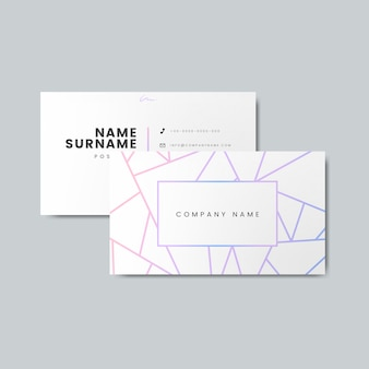 Blank business card design mockup