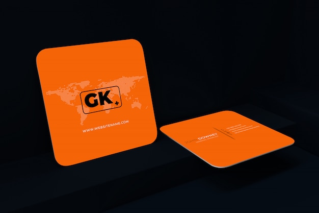 Blank business card mockup. 3d rendering illustration