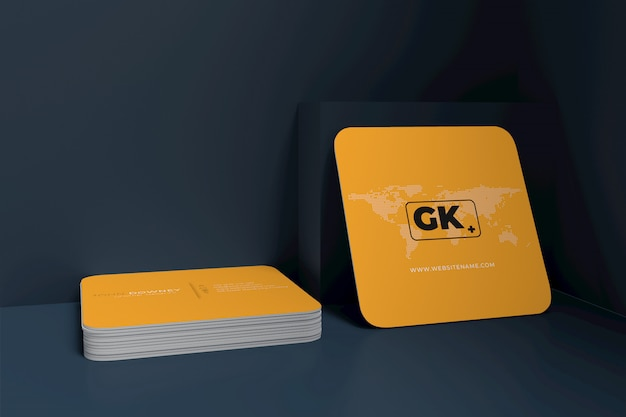 Blank business card mockup. 3d rendering