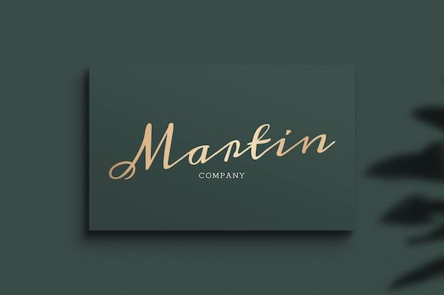 Blank business card mockup design