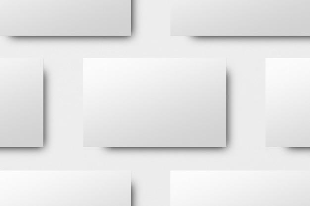 Design mockup biglietto da visita in bianco