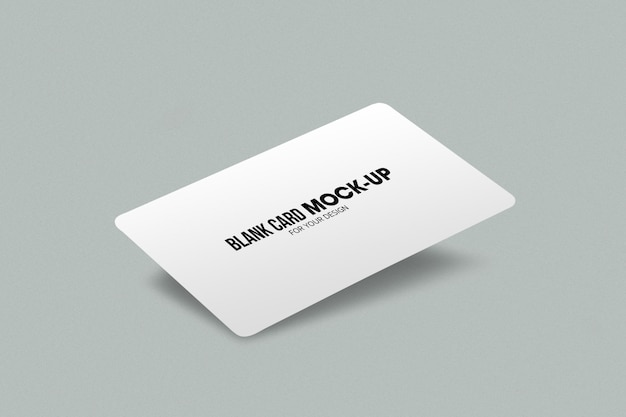 Blank business or name card mockup template.
