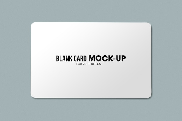 Blank business or name card mockup