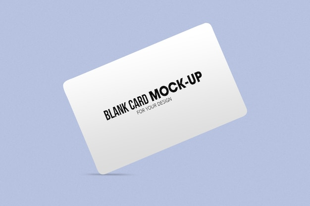Blank business or name card mockup   .