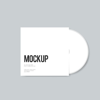 Blank CD cover design mockup