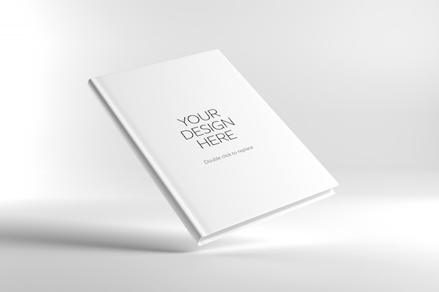Blank cover book mock up