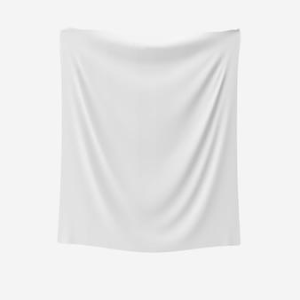Mockup di tessuto bianco