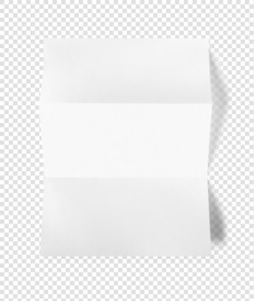 空白の折り畳まれた白いa4紙シートモックアップテンプレート