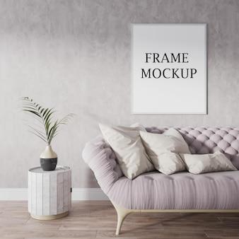 Blank frame mockup in 3d rendering