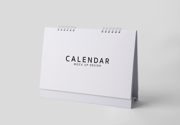 Blank mock up calendar template on white background psd.