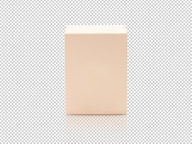Blank orange product packaging box mockup