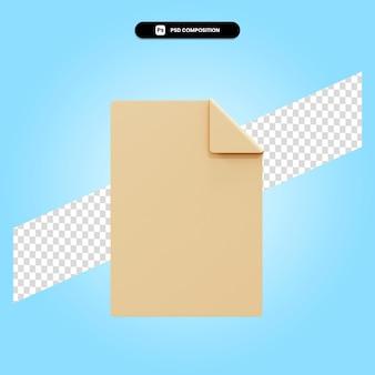 白紙の3dレンダリングイラスト分離