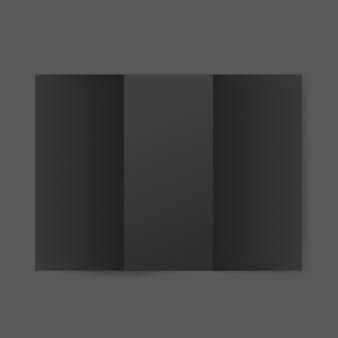 Mockup di modello di brochure di carta bianca