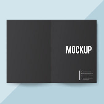 Blank paper brochure template mockup