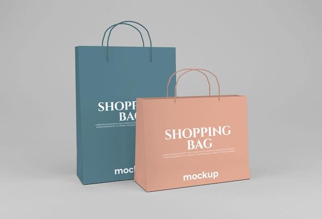 Чистый лист бумаги, длинный и широкий макет сумки для покупок