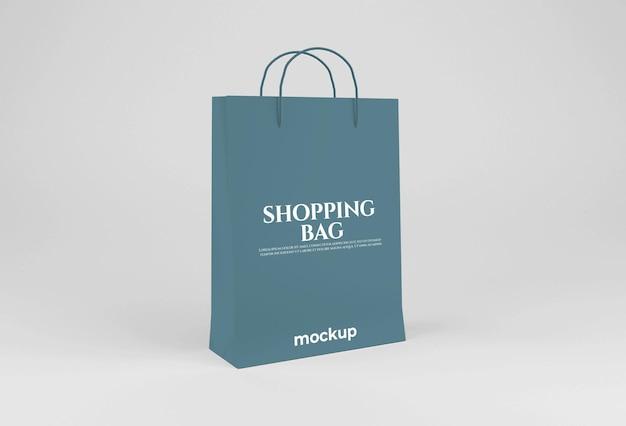 白紙の長い買い物袋のモックアップ