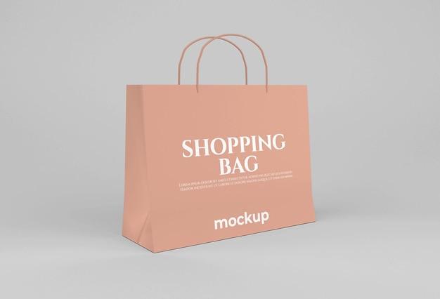 빈 종이 넓은 쇼핑백 모형