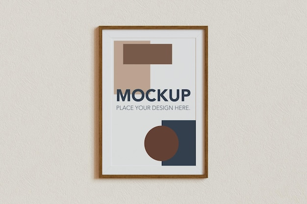 Blank photo frame mockup design