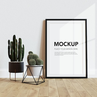 Blank photo frame mockup