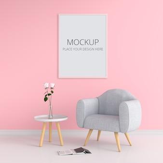 Blank photo frame for mockup