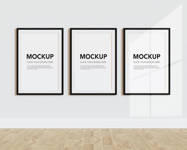 Blank photo frames mockup