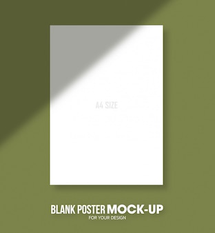 Blank poster a4 size mockup template.