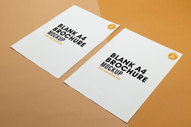 空白のポスターパンフレットa4サイズのモックアップ
