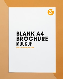 Blank poster brochure a4 size mockup