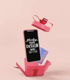 Пустой экран смарт-телефон компьютерный макет. концепция интернет-магазина