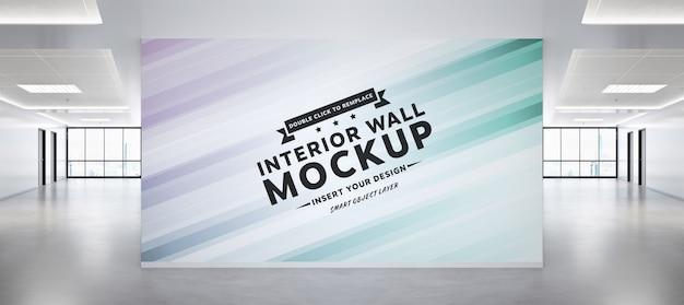 Blank wall in concrete office mockup