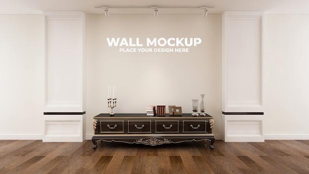 Глухая стена в элегантном деревянном макете офиса