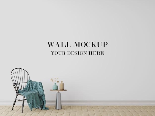 空白の壁のモックアップ3d視覚化