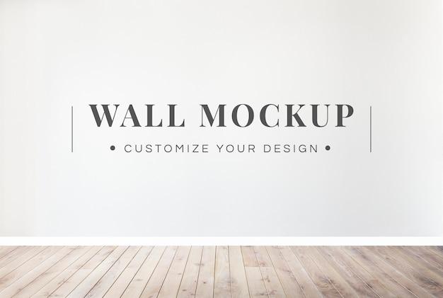 Blank wall mockup